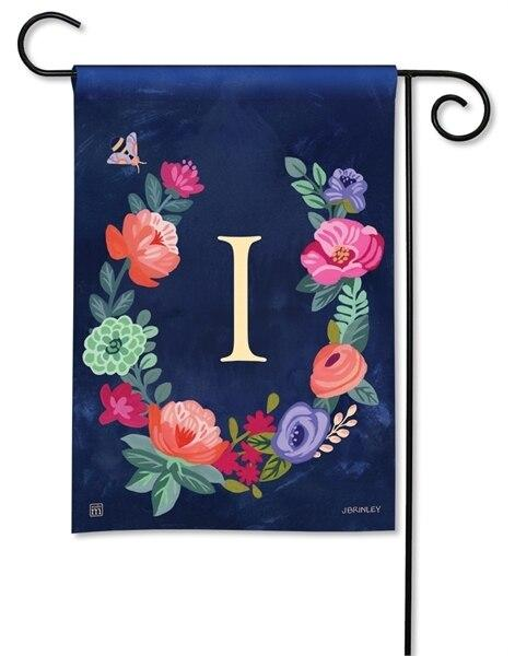 Boho Flowers Monogram I Garden Flag - All Decorative Flags/Monogram Flags - I AmEricas Flags