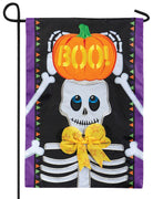 Boo Skeleton Double Applique Garden Flag