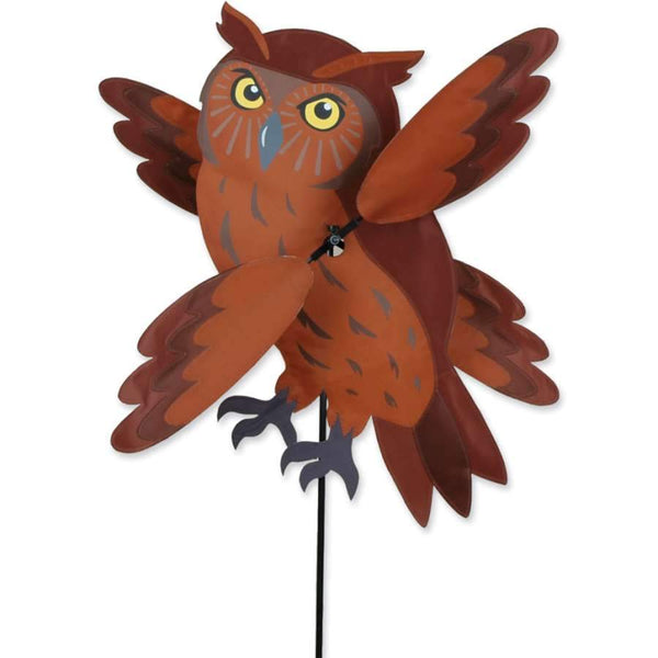 Brown Owl Large WhirliGig Wind Spinner