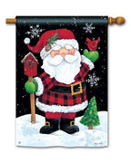 Buffalo Check Santa Claus House Flag