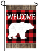 Buffalo Plaid Bear Garden Flag