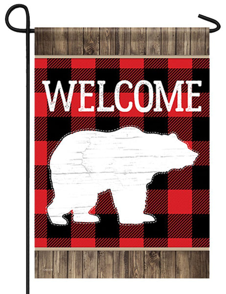 Buffalo Plaid Bear Garden Flag - All Decorative Flags/Themes/Country Farmhouse and Western Flags - I AmEricas Flags
