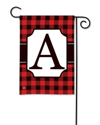 Buffalo Plaid Monogram A Garden Flag