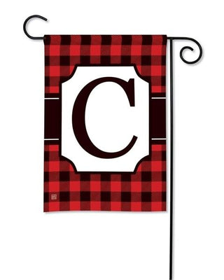 Buffalo Plaid Monogram C Garden Flag
