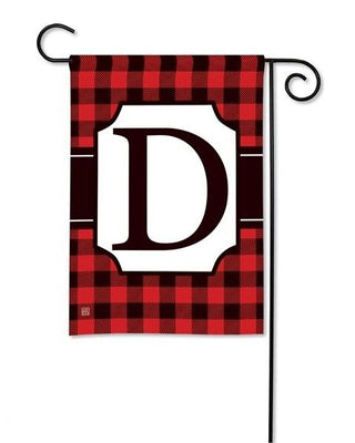 Buffalo Plaid Monogram D Garden Flag