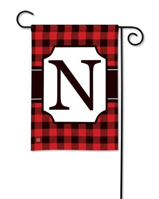 Buffalo Plaid Monogram N Garden Flag