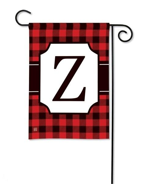 Buffalo Plaid Monogram Z Garden Flag