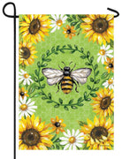 Bumble Bee and Sunflowers Garden Flag