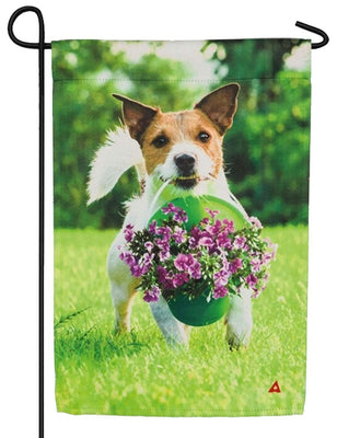 Bunches of Love Terrier Suede Reflections Garden Flag