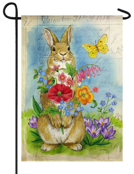 Bunny Bouquet Suede Reflections Garden Flag - I AmEricas Flags