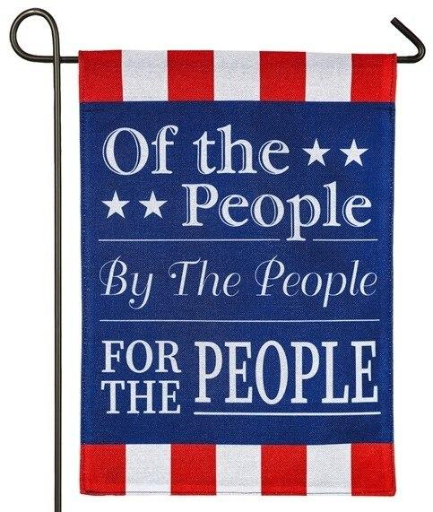 Burlap For The People Decorative Garden Flag - I AmEricas Flags