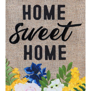 Burlap Home Sweet Home Flower Crate Decorative Garden Flag - All Decorative Flags/Themes/Flowers and Floral Flags - I AmEricas Flags