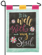 Burlap It Is Well Decorative Garden Flag