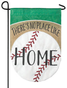 Burlap No Place Like Home Decorative Garden Flag