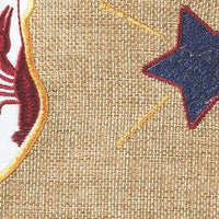Burlap Proud Louisiana American Decorative House Flag Detail 1