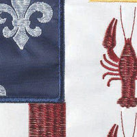 Burlap Proud Louisiana American Decorative House Flag Detail 2