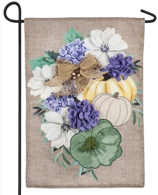 Burlap Soft Autumn Floral Decorative Garden Flag