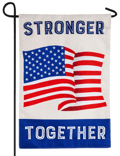 Burlap Stronger Together Americana Decorative Garden Flag NEWPRODUCT - I AmEricas Flags
