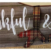 Burlap Thankful and Blessed Decorative House Flag