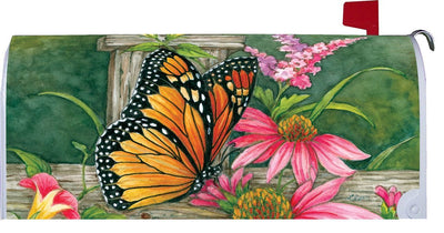 Butterfly Fence Mailbox Cover