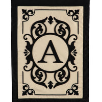 Cambridge Letter A Applique Monogram House Flag