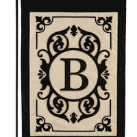 Cambridge Letter B Applique Monogram Garden Flag