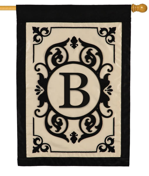 Cambridge Letter B Applique Monogram House Flag