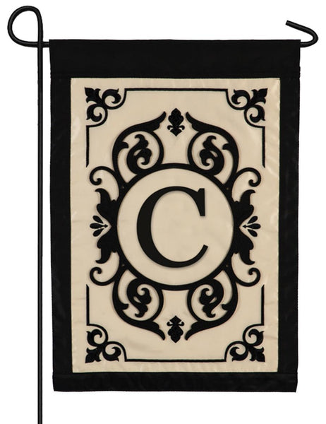 Cambridge Letter C Applique Monogram Garden Flag