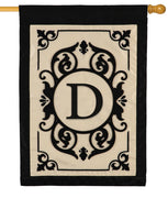 Cambridge Letter D Applique Monogram House Flag