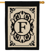 Cambridge Letter F Applique Monogram House Flag
