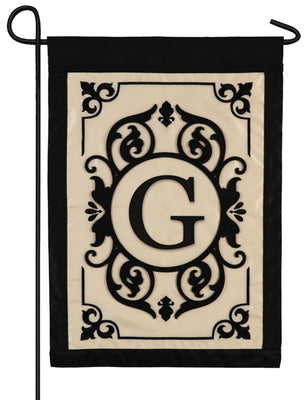 Cambridge Letter G Applique Monogram Garden Flag