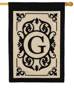 Cambridge Letter G Applique Monogram House Flag