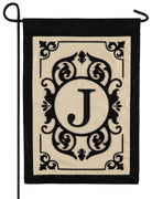 Cambridge Letter J Applique Monogram Garden Flag