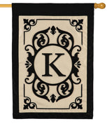 Cambridge Letter K Applique Monogram House Flag