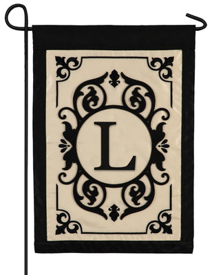 Cambridge Letter L Applique Monogram Garden Flag