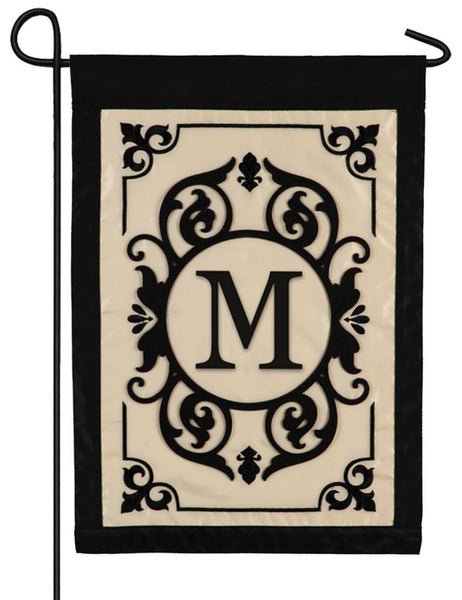 Cambridge Letter M Applique Monogram Garden Flag - All Decorative Flags/Monogram Flags - I AmEricas Flags