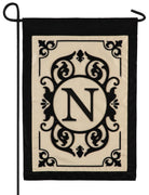 Cambridge Letter N Applique Monogram Garden Flag