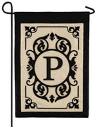 Cambridge Letter P Applique Monogram Garden Flag