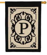 Cambridge Letter P Applique Monogram House Flag
