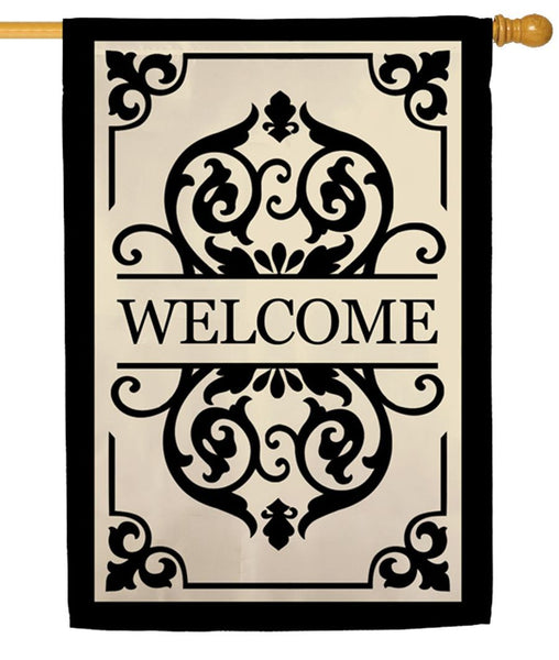 Cambridge Welcome Applique House Flag - All Decorative Flags/Themes/Welcome Flags - I AmEricas Flags