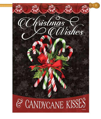 Candy Cane Bouquet House Flag