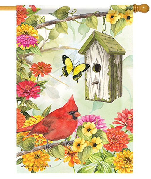 Cardinal Birdsong House Flag - All Decorative Flags/Themes/Bird Flags/Cardinals - I AmEricas Flags