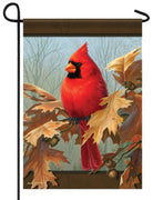 Cardinal and Autumn Oak Garden Flag