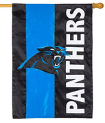Carolina Panthers Embellished Applique House Flag