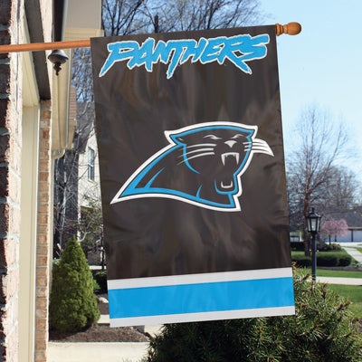 Carolina Panthers Applique House Flag