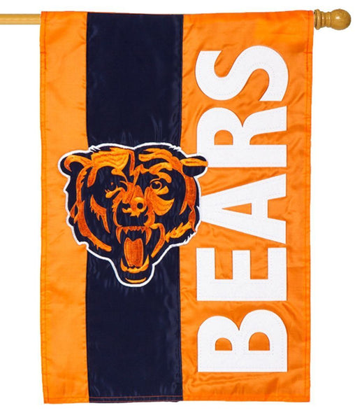 Chicago Bears Embellished Applique House Flag - Sports Flags/NFL National Football League/Chicago Bears - I AmEricas Flags