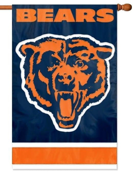 Chicago Bears Applique House Flag - Sports Flags/NFL National Football League/Chicago Bears - I AmEricas Flags