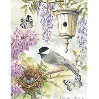 Chickadee Birdsong House Flag