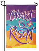 Christ Is Risen Double Applique Garden Flag