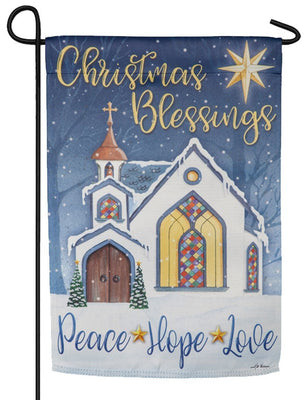 Christmas Blessings Suede Reflections Garden Flag